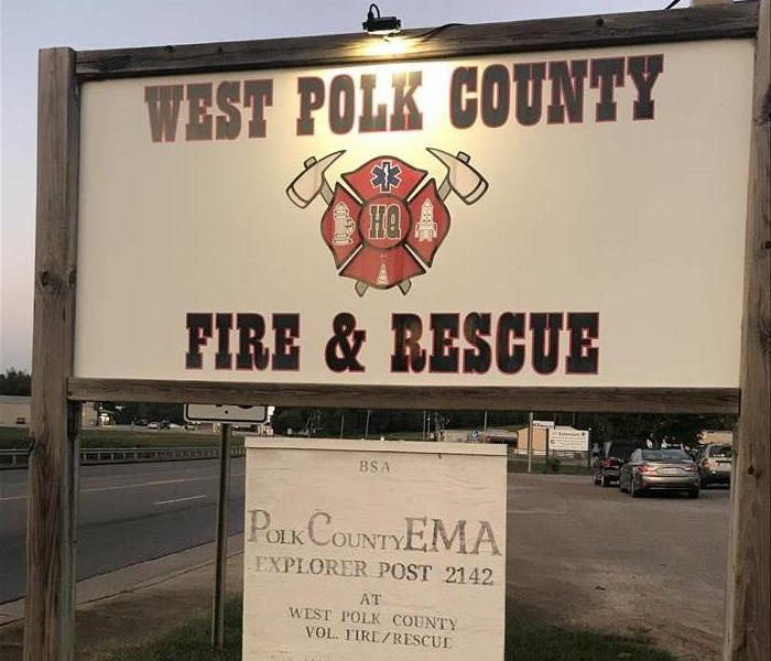 west polk county fire and rescue sign